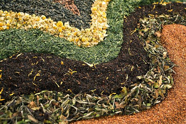hierbas de varios tes